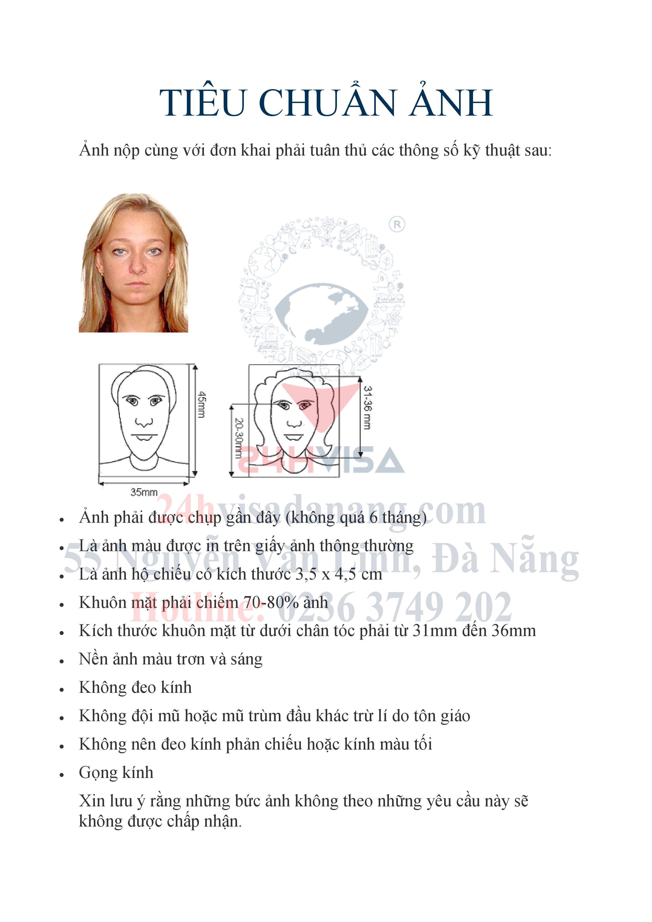 Cả nhà nhớ check lại tiêu chuẩn ảnh mới của Visa Châu Âu nhé, tránh trường hợp chụp lại nhiều lần mất thời gian ✅Liên hệ: 0236 3749 202 hoặc 0905 020 811 ...